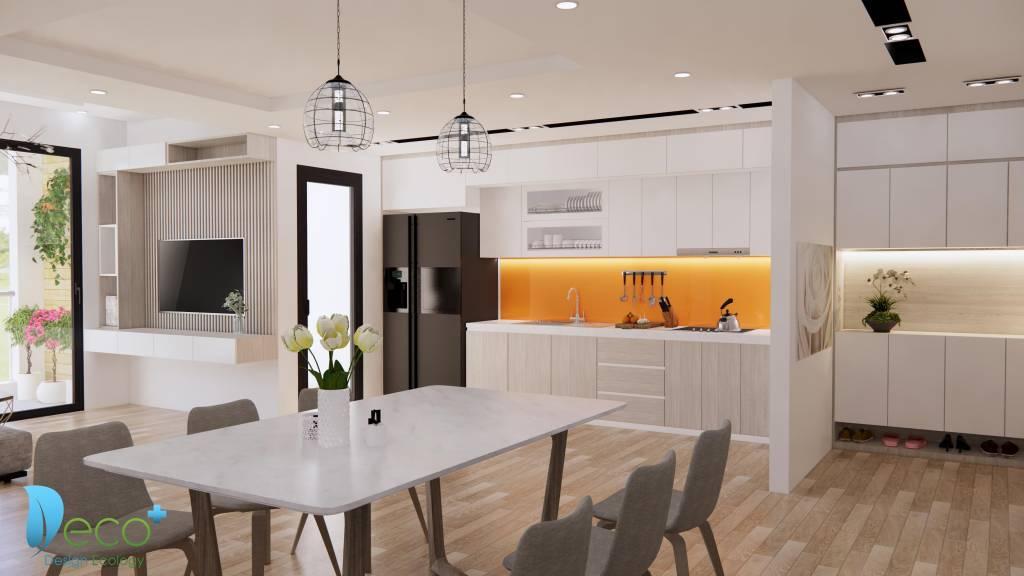 Nội thất chung cư hiện đại - Gian bếp tiện nghi , nhỏ nhưng ấm cúng