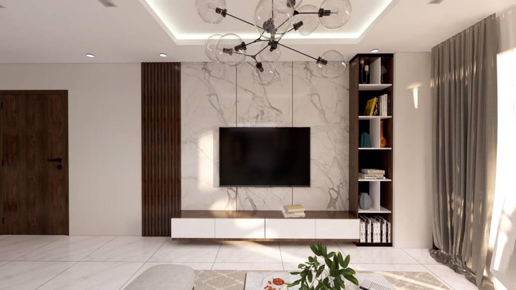 Phòng khách chung cư đón nắng mai rực rỡ - Nội thất chung cư chuyên nghiệp Deco+