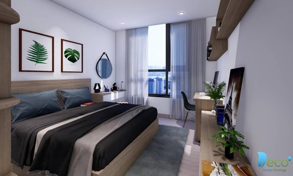 Phòng ngủ chung cư hiện đại với những điểm nhấn ấn tượng -Nội thất chung cư chuyên nghiệp Deco+