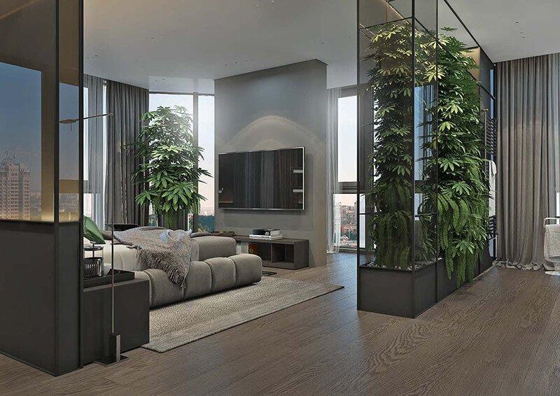 Nội thất không gian xanh lấy cảm hứng từ tự nhiên, cây cỏ