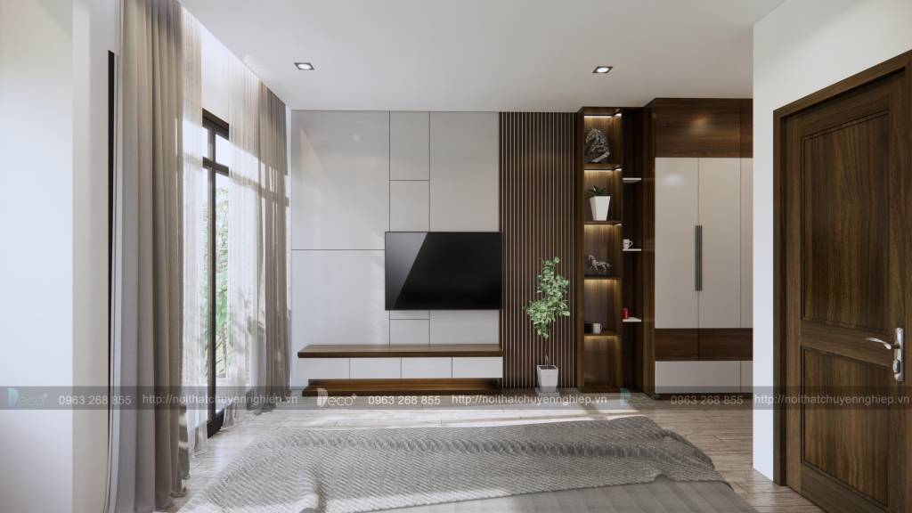 Một không gian phòng ngủ hiện đại