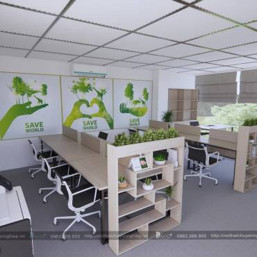 nội thất văn phòng vĩnh phúc – Văn phòng đẹp đón nhân tài