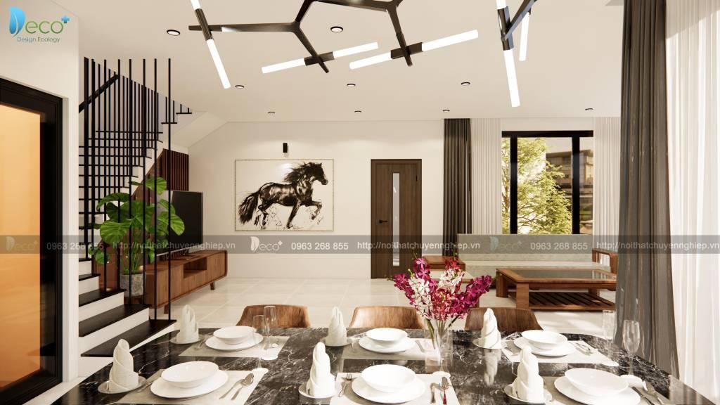 Thiết kế nội thất phòng ăn sang trọng ấm cúng
