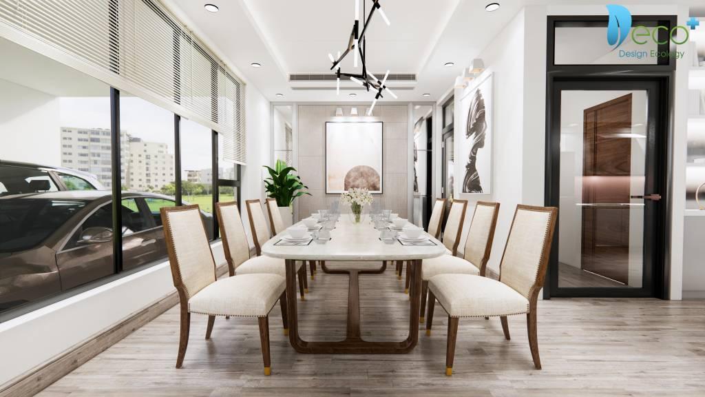 nội thất tinh tế vĩnh phúc - Bàn ăn gia đình được lựa chọn kỹ lưỡng mang đến cảm giác thoải mái để gia chủ có những bữa ăn ngon.
