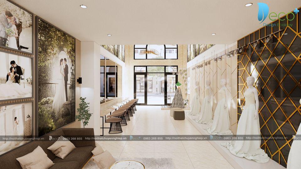 mẫu nhà đẹp vĩnh phúc - Không gian kinh doanh tầng 1