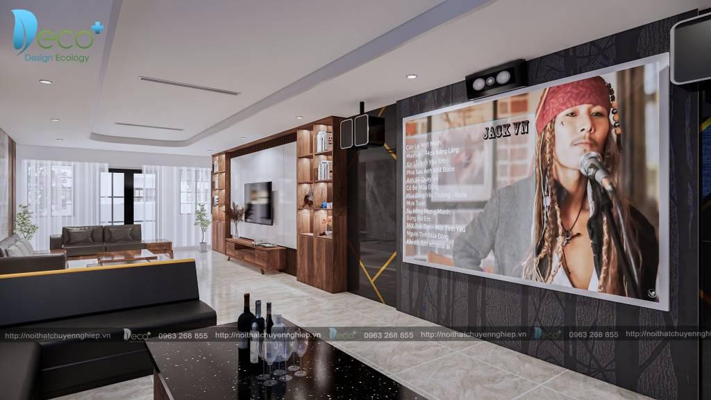 mẫu nhà đẹp vĩnh phúc - Tầng 4  phòng khách kết hợp với phòng hát karaoke