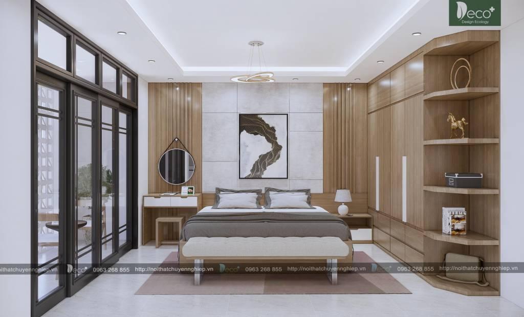 Phòng ngủ hiện đại với tone màu ấm áp - Nội thất Vĩnh Phúc