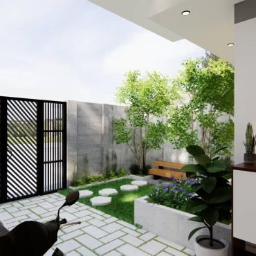 Công ty thiết kế kiến trúc – Nhà phố 1 tầng – Mặt tiền 7m ấn tượng – Chi phí từ 500 triệu