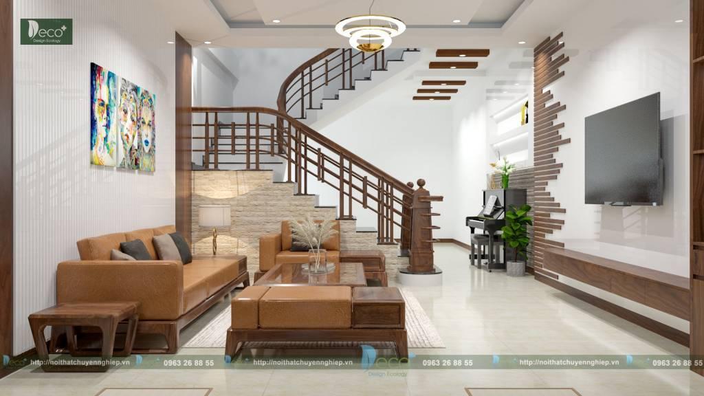 nội thất vĩnh yên vĩnh phúc - Tone màu gỗ mang đến cho không gian sự bừng sáng