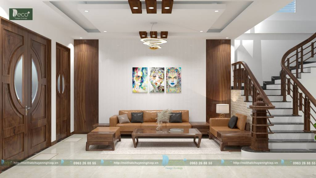nội thất tinh tế vĩnh phúc - Hệ thống chiếu sáng được lắp đặt thông minh khiến căn nhà trở nên bừng sáng