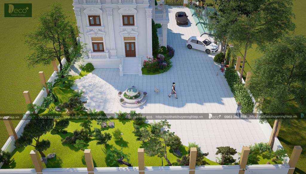 Tiểu cảnh sân vườn đẹp - Đồi núi nhân tạo được thiết kế với cao độ hợp lý