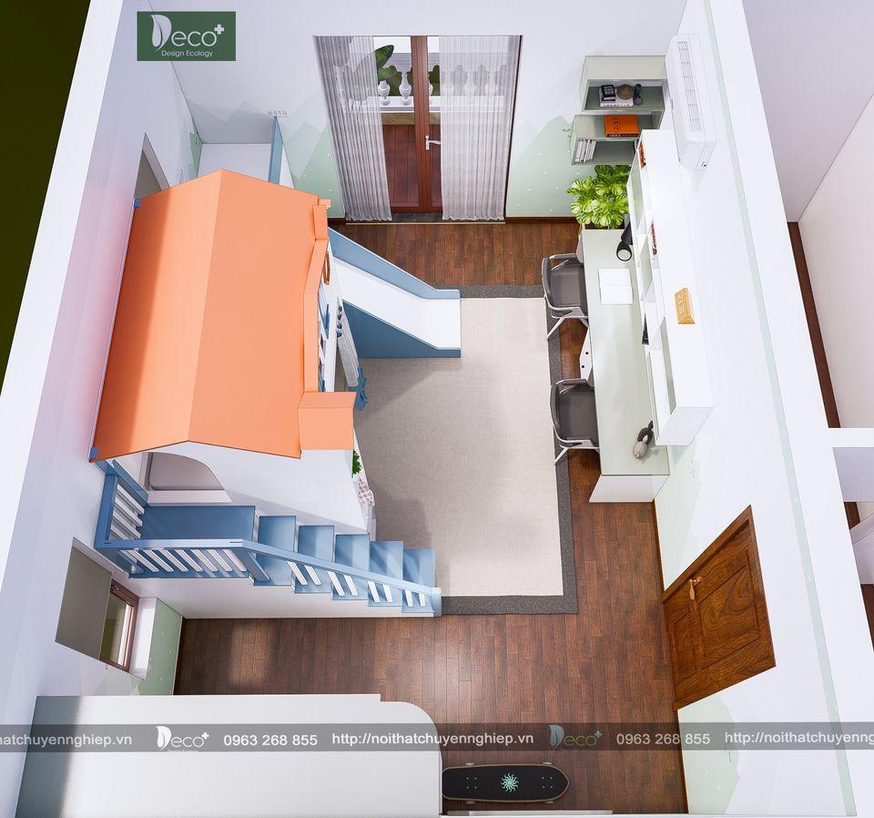 Phòng ngủ hiện đại cho bé yêu thích màu da cam đáng tham khảo