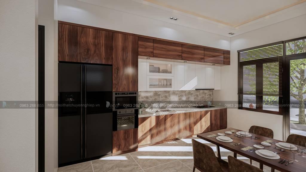 nội thất vĩnh phúc đẹp - Căn bếp tiện nghi sẽ giúp cả gia đình có những bữa tiệc quân quần đáng nhớ