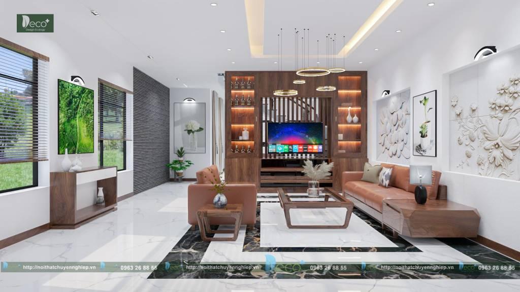 Thiết kế nội thất đẹp - Phòng khách hiện đại