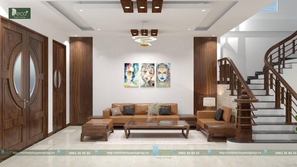 nội thất tinh tế - Phòng khách được thiết kế hệ thống chiếu sáng ấn tượng mang đến không gian tươi sáng.