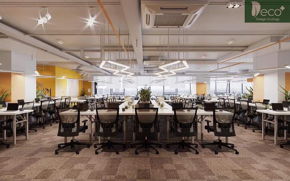 Thiết kế văn phòng nhà máy - Không gian hiện đại