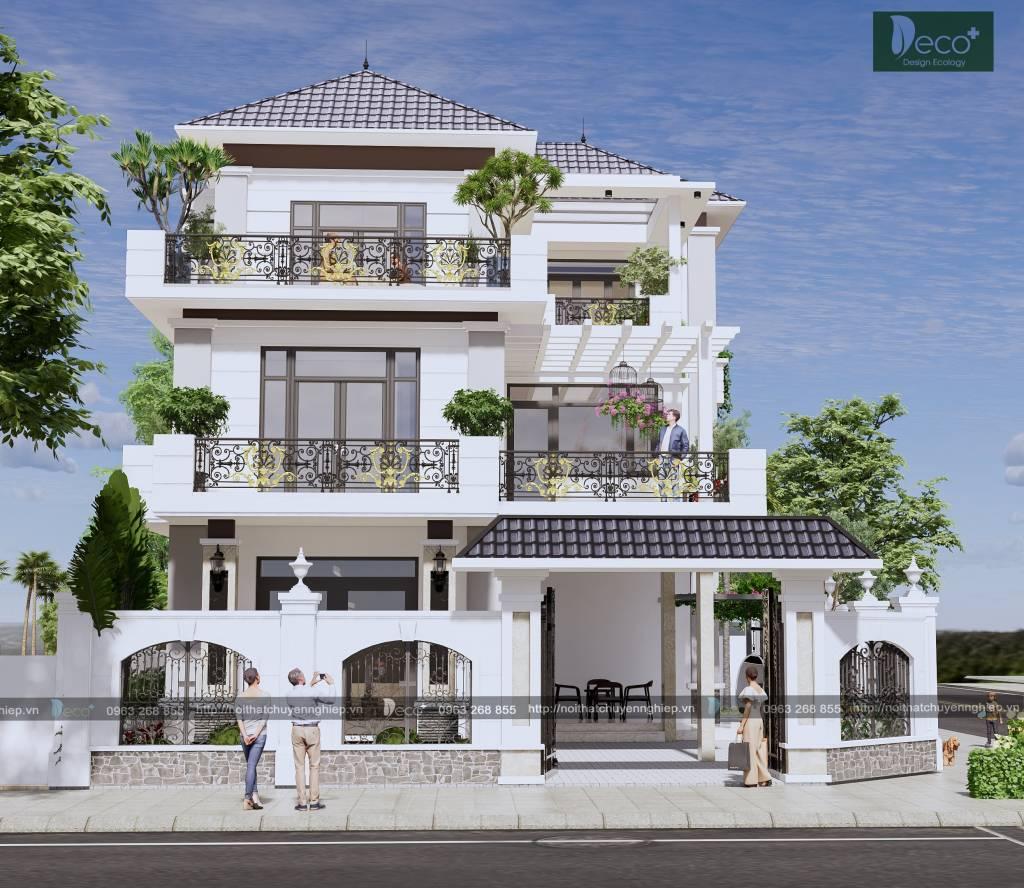 thiết kế nhà đẹp - nhà phố 2 tầng hiện đại cho gia đình trẻ