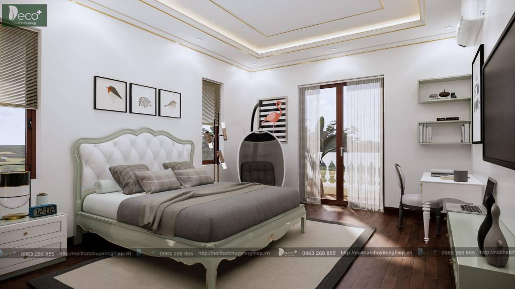 biệt thự tân cổ đẹp - Phòng ngủ đẹp
