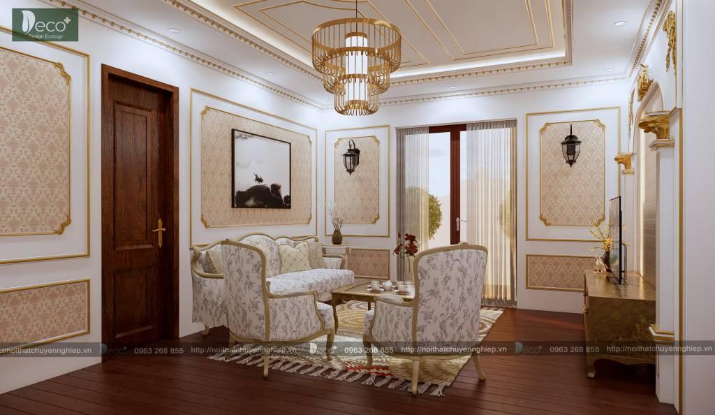 biệt thự tân cổ đẹp - phòng khách đẳng cấp