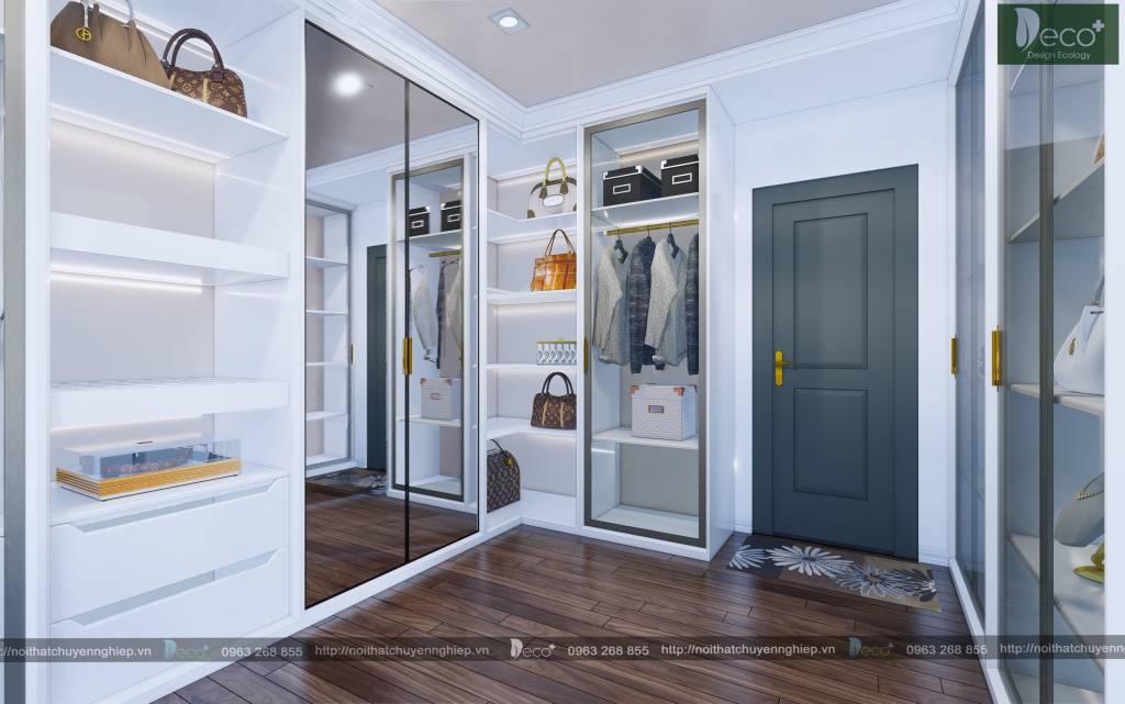 nội thất phòng ngủ - Phòng thay đồ lộng lẫy