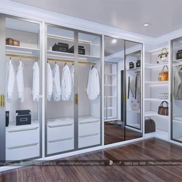 Nội thất phòng ngủ thêm sang trọng với phòng thay đồ mẫu mực