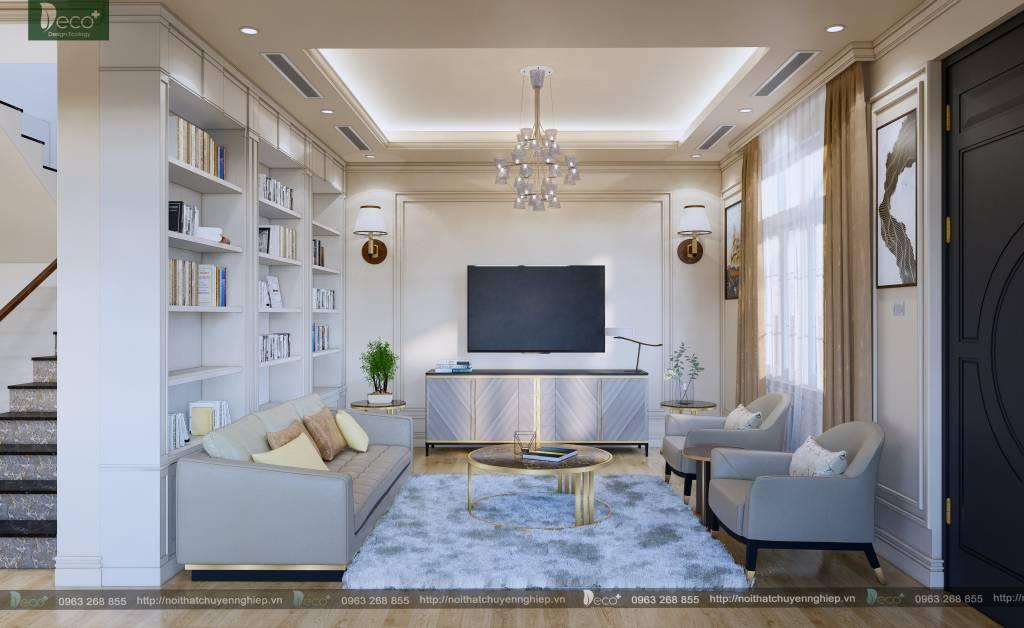 Phòng khách ấn tượng với phong cách luxury