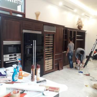 Công trình thi công nội thất gỗ óc chó – Sang trọng vượt thời gian