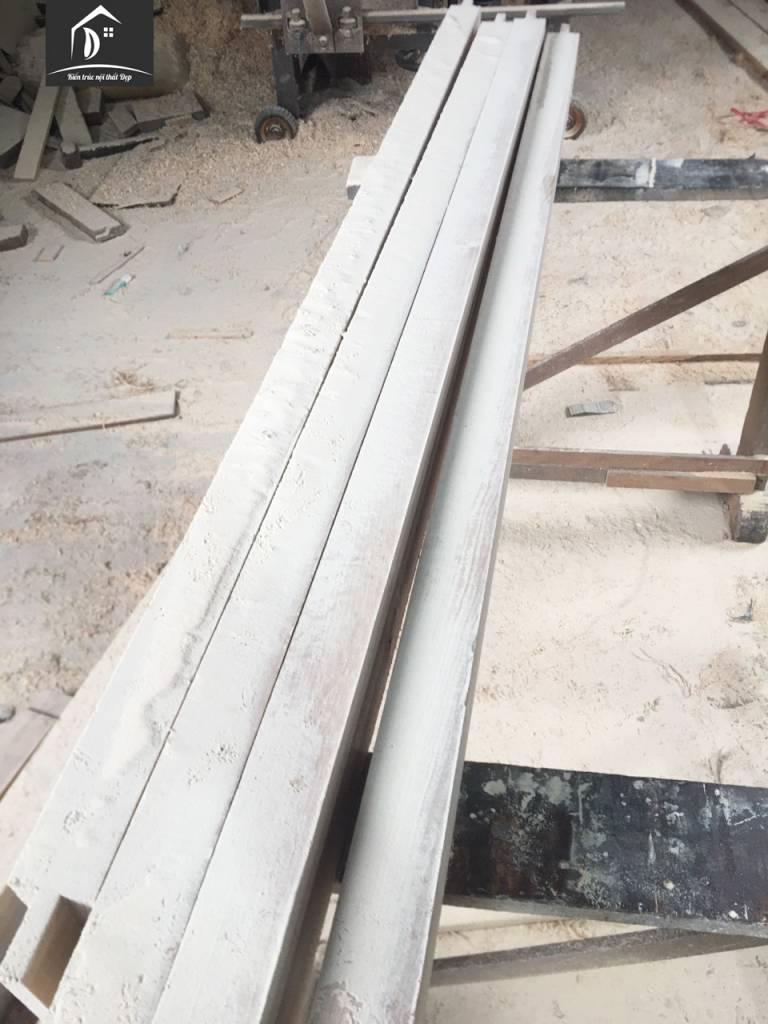 Mộng gỗ chắc chắn được cắt rất công phu