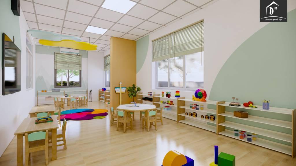 thiết kế trường mầm non - Khu vực học tập