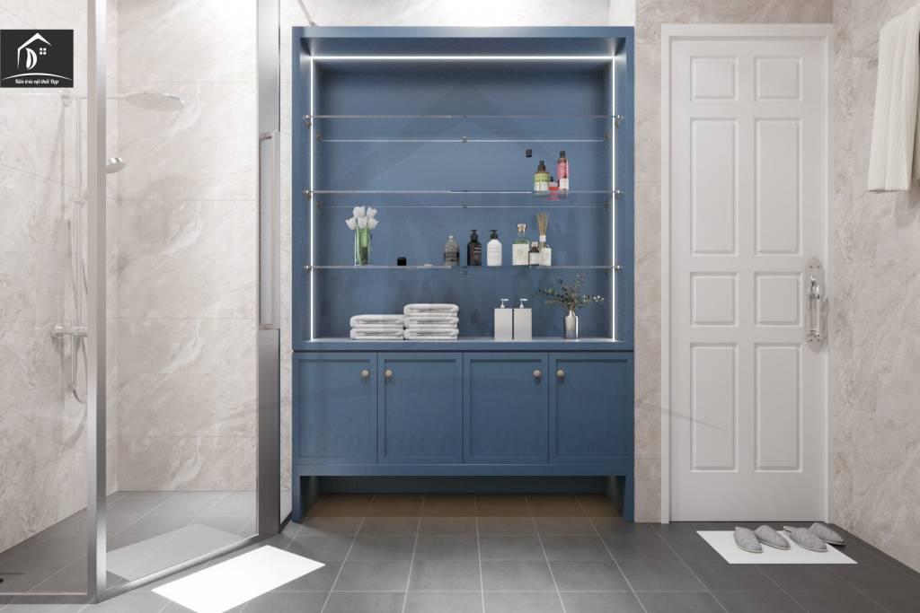 Tủ để đồ gam màu xanh thiên thanh vô cùng dễ chịu