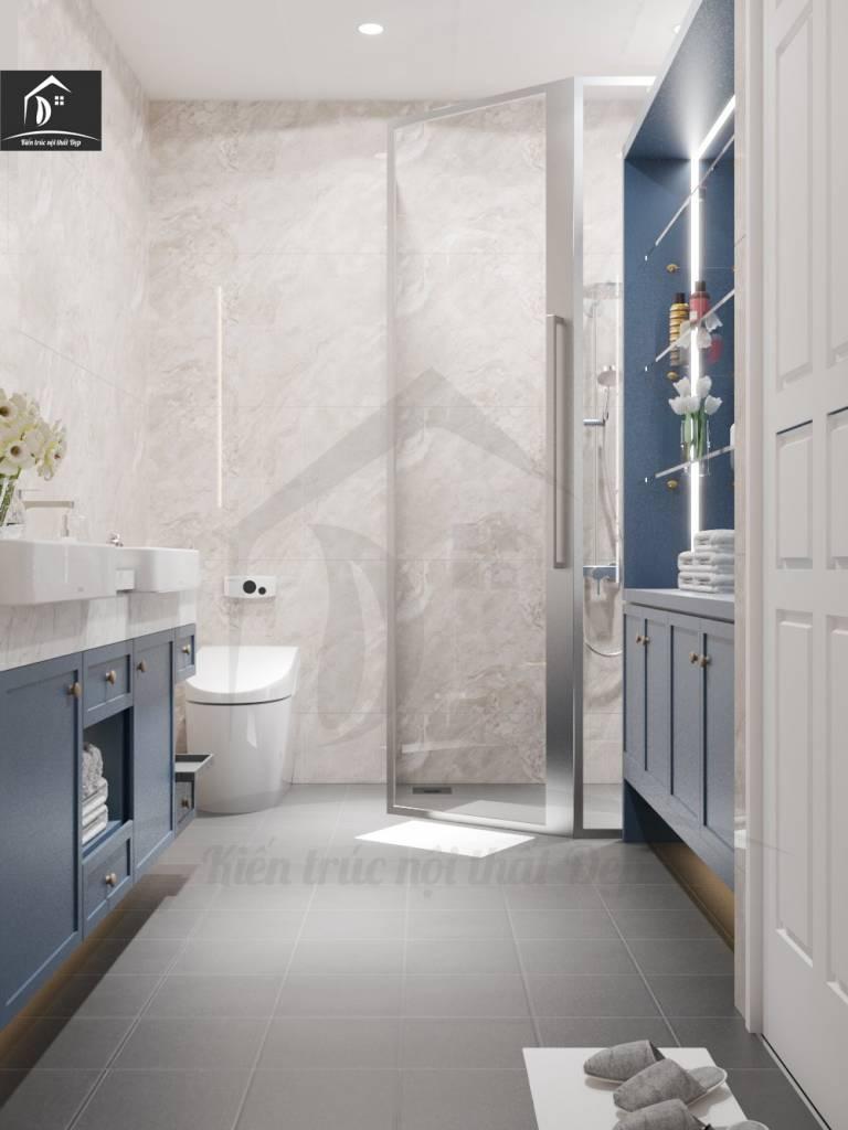 thiết kế nội thất phòng tắm diện tích nhỏ.