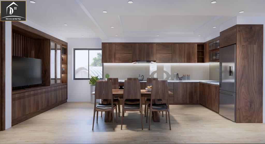 Nội thất phòng ăn từ gỗ tự nhiên