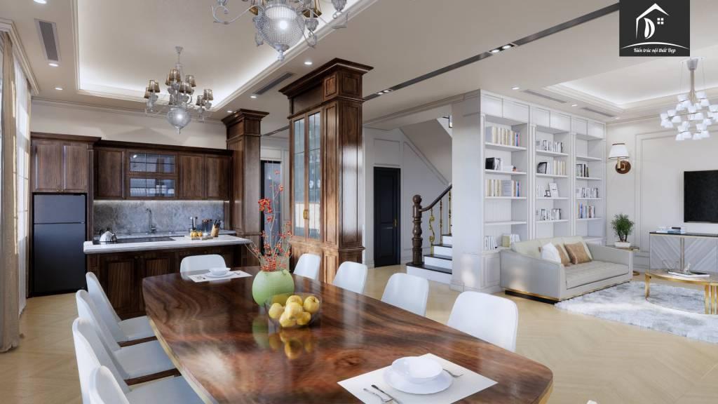 Bàn đảo bếp điểm nhấn trong không gian bếp chính