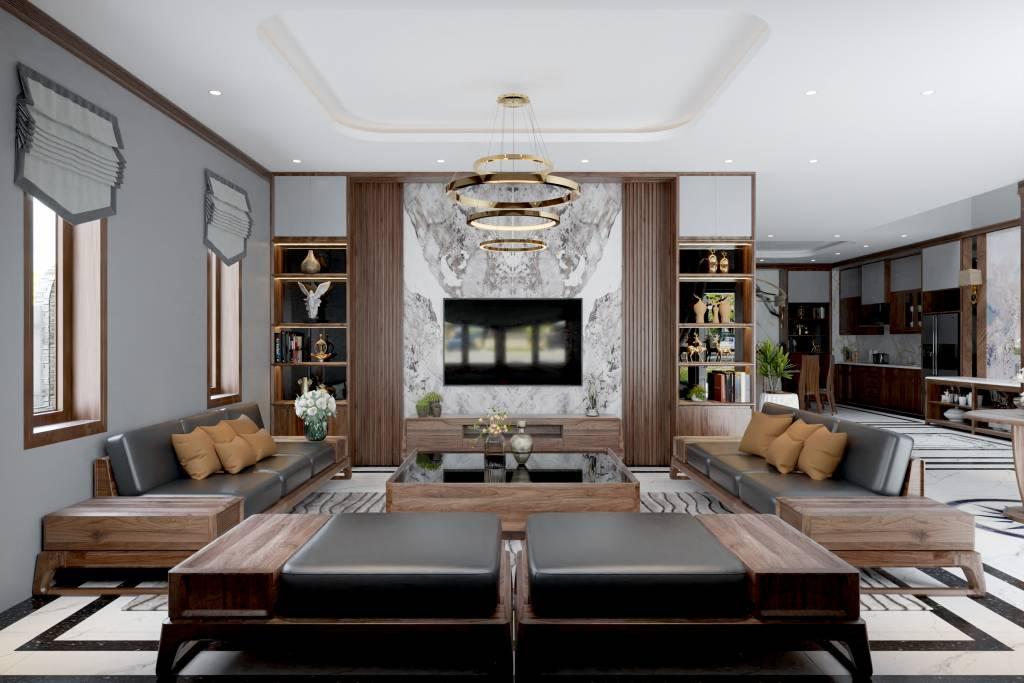 Không gian phòng khách sang trọng - mẫu nhà đẹp