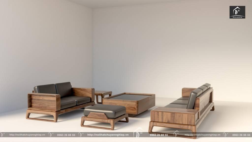 Sofa được thiết kế thi công bằng gỗ óc chó - Nội thất gỗ óc chó vĩnh phúc