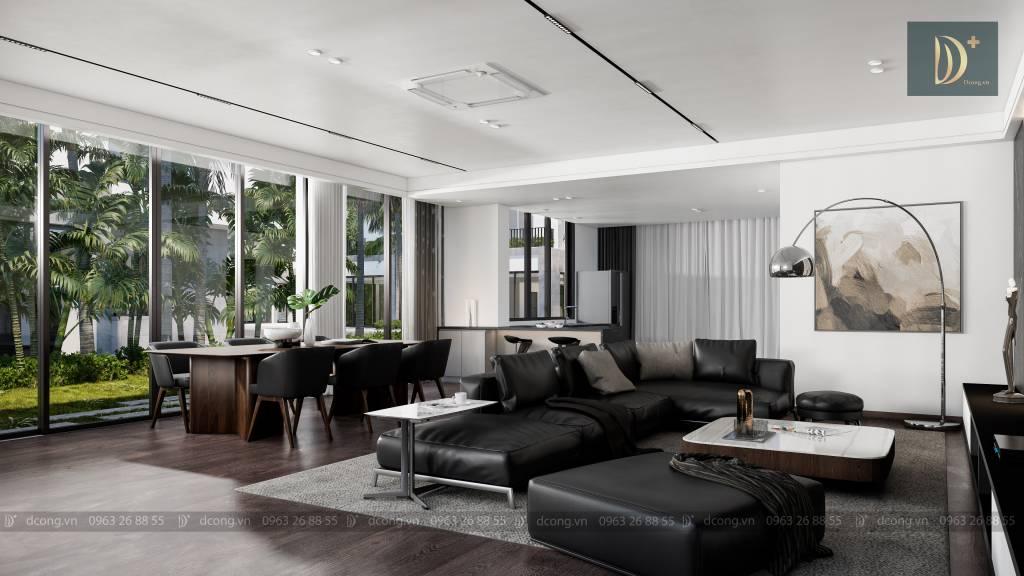 Không gian đậm chất nghỉ dưỡng của thiết kế villa