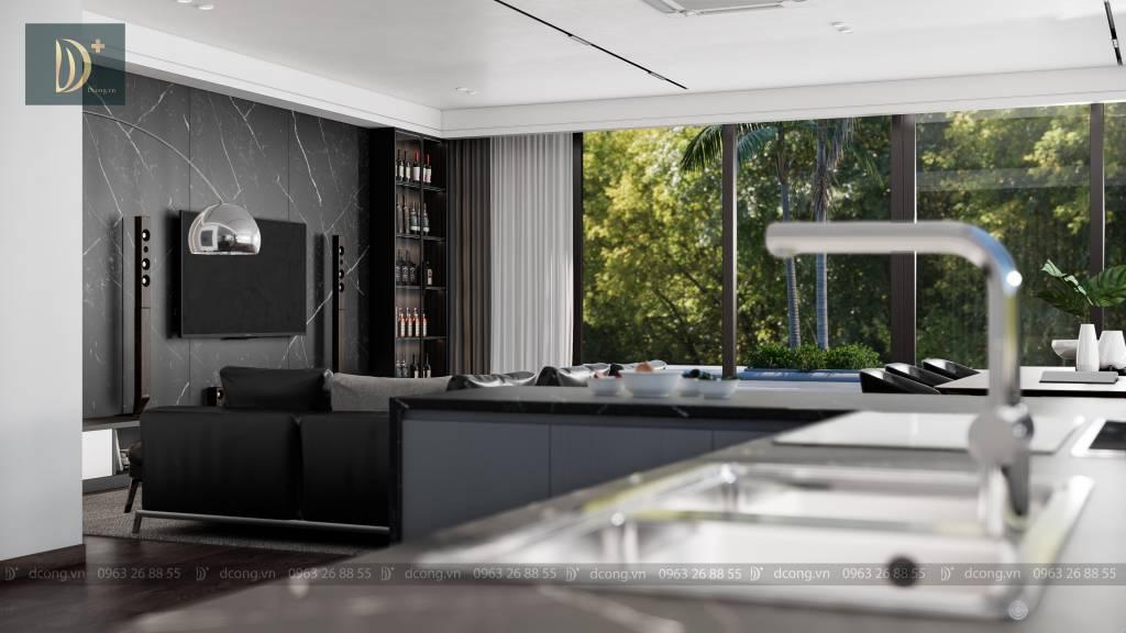 thiết kế villa hiện đại - Phòng bếp