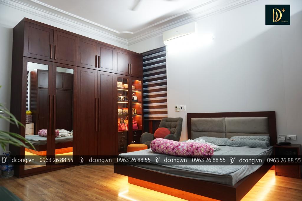 Phòng ngủ xinh với gỗ sồi tự nhiên