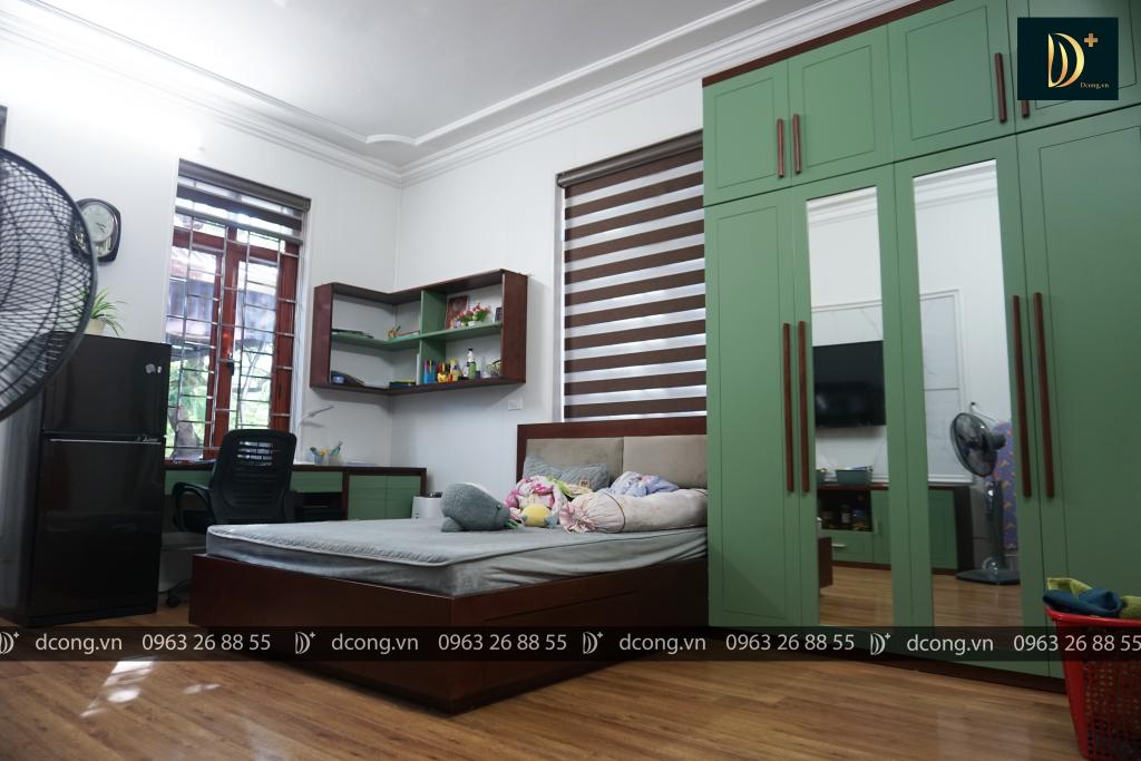 Phòng ngủ gỗ tự nhiên sơn bệt